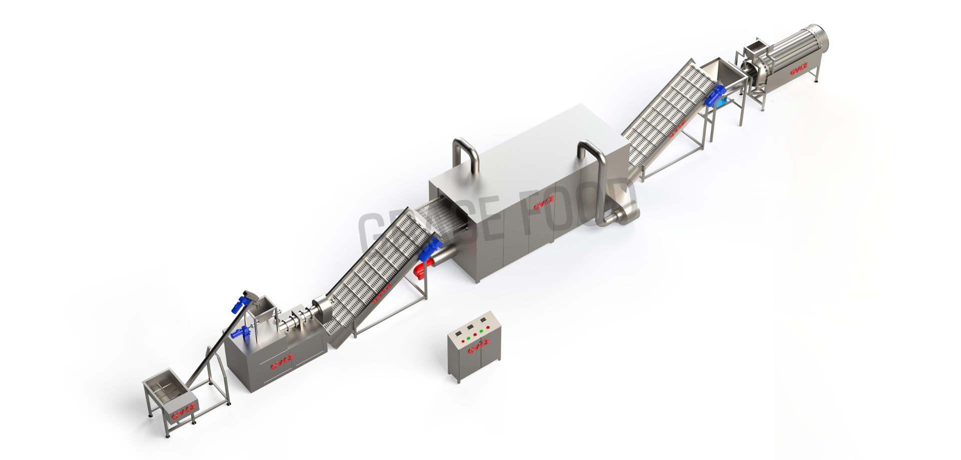 CORN PUFF LINE TWIN SCREW EXTRUDER